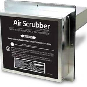 An air scrubber filtration system.